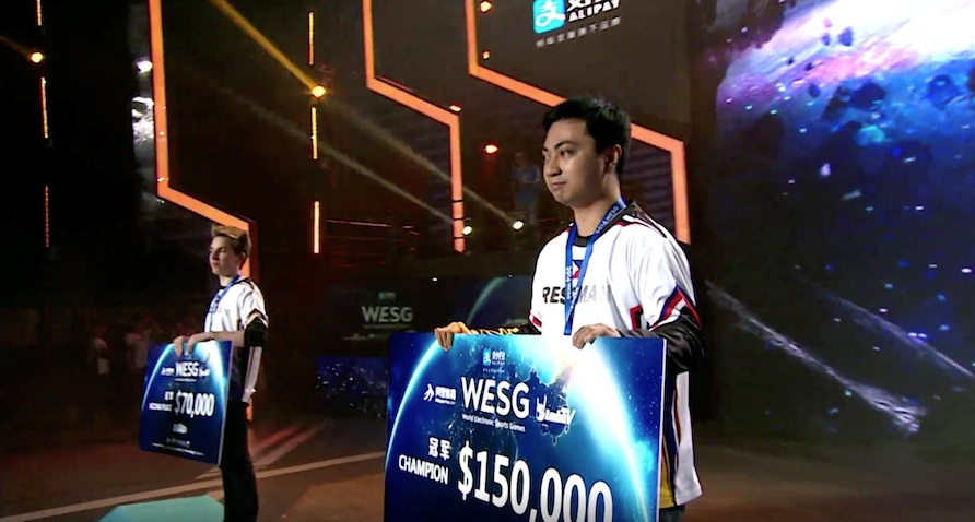 Hearthstone pro Staz winning USD 150,000 at WESG