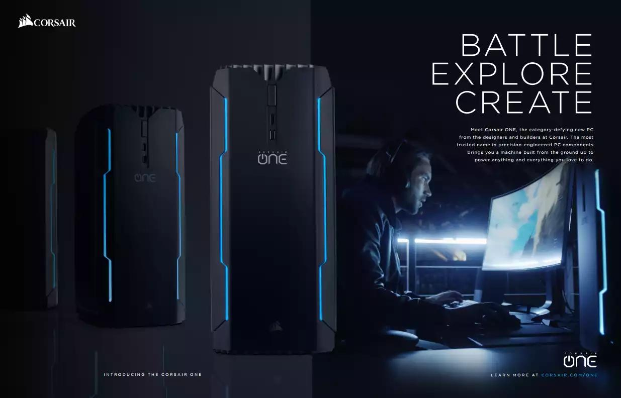 Ad clipping for the Corsair  One on Maximum PC's March Issue. Image by Tweaktown